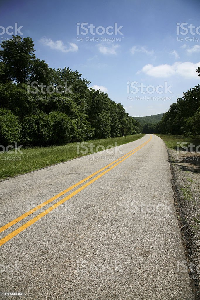 Road on a nice day royalty-free stock photo