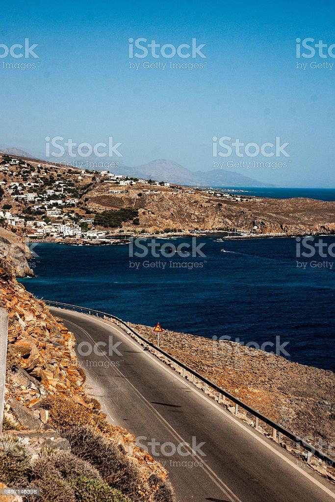 Road sur la Crète photo libre de droits