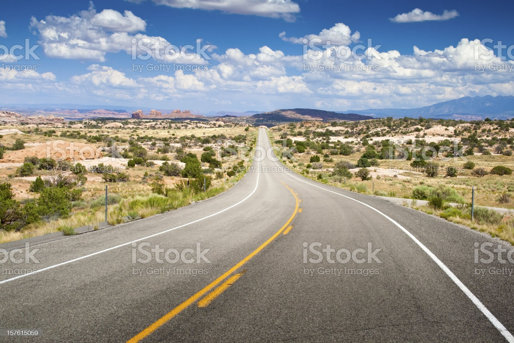 Road on desert royalty-free stock photo