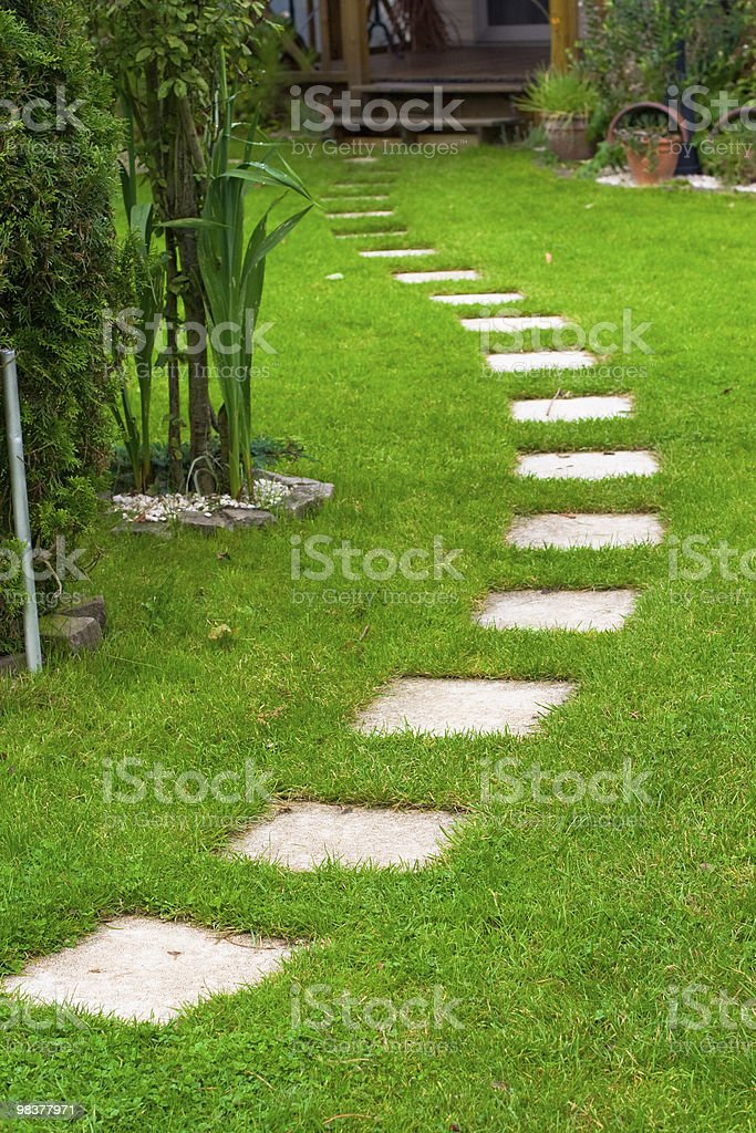 road on grass royalty-free stock photo