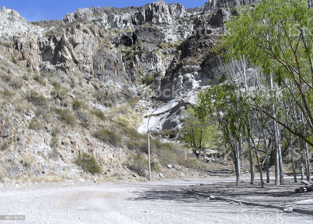 Road on San Rafael valley stock photo