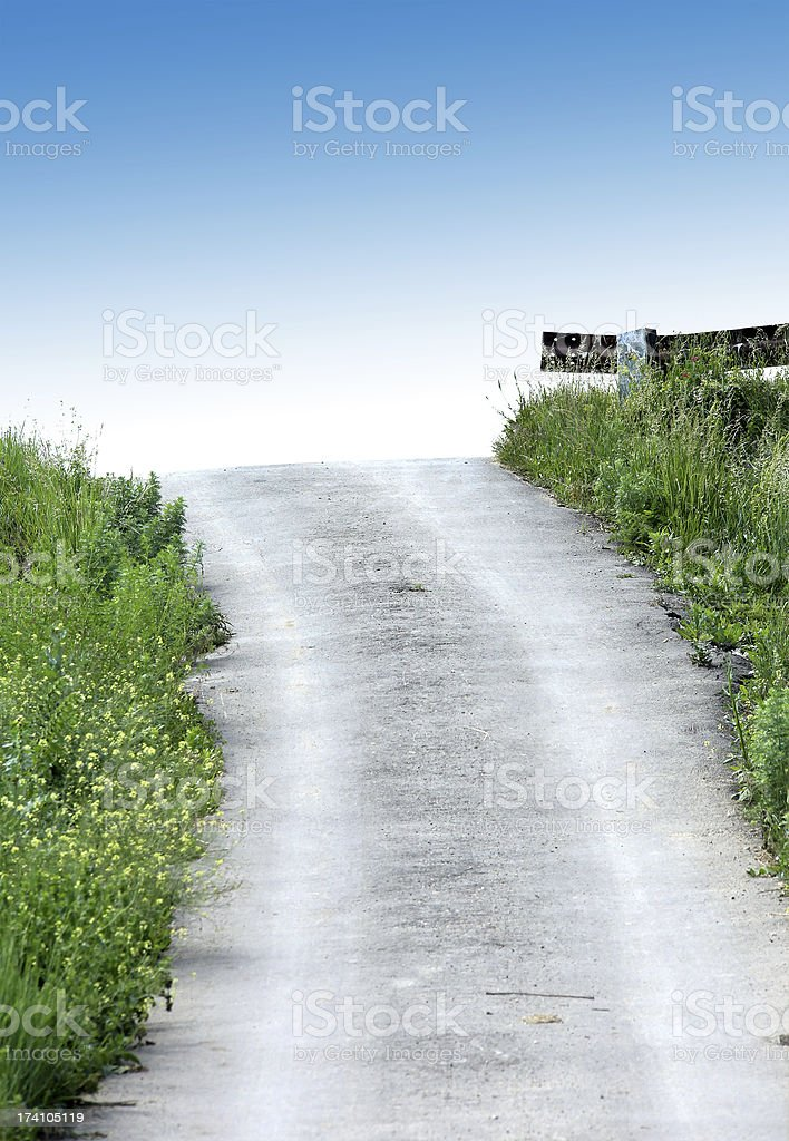 Road on the heaven royalty-free stock photo