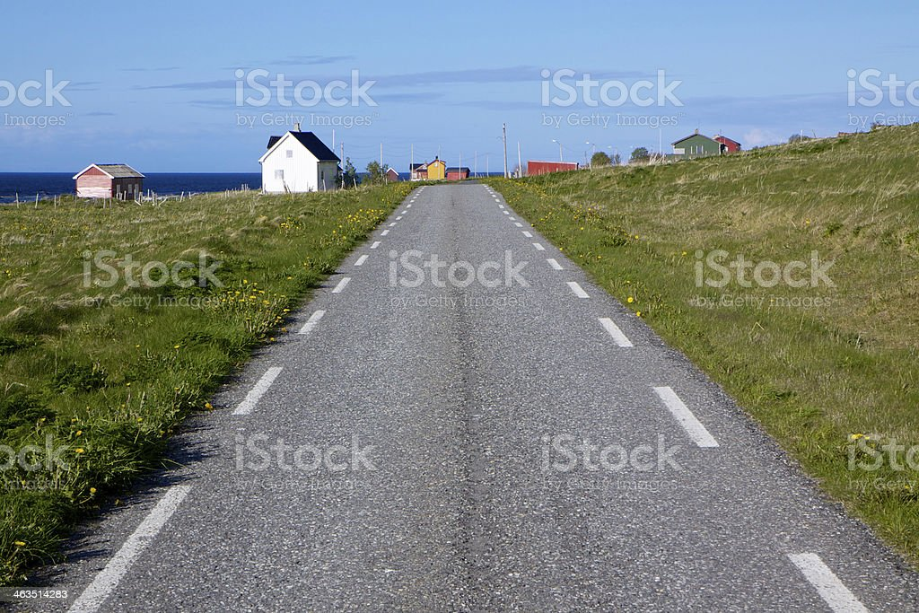 Road on Vaeroy royalty-free stock photo