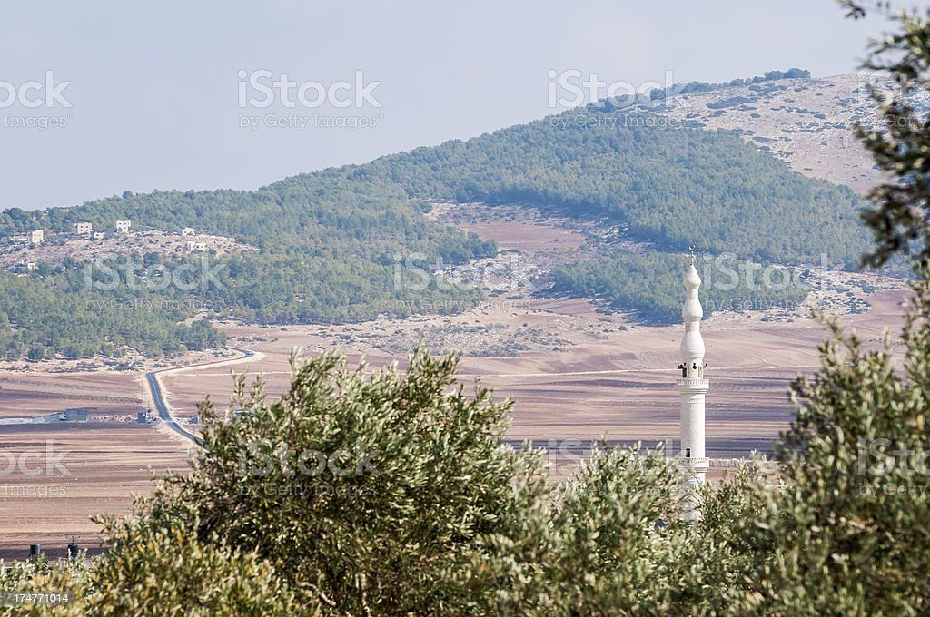 West Bank road and landscape royalty-free stock photo