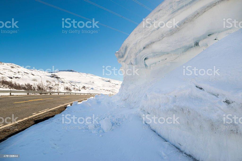 Road over Hallingskarvet in Norway stock photo