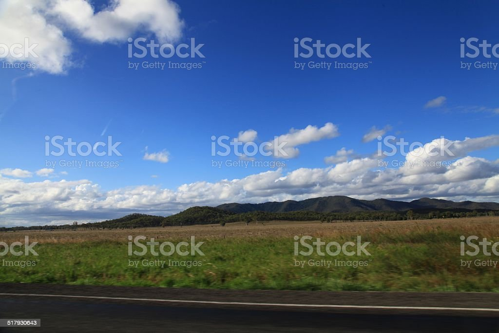 Road Passing Through a Landscape stock photo