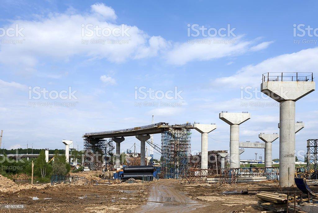 Road pillars stock photo
