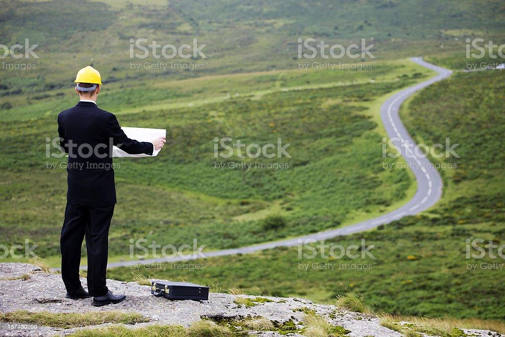Road planning stock photo