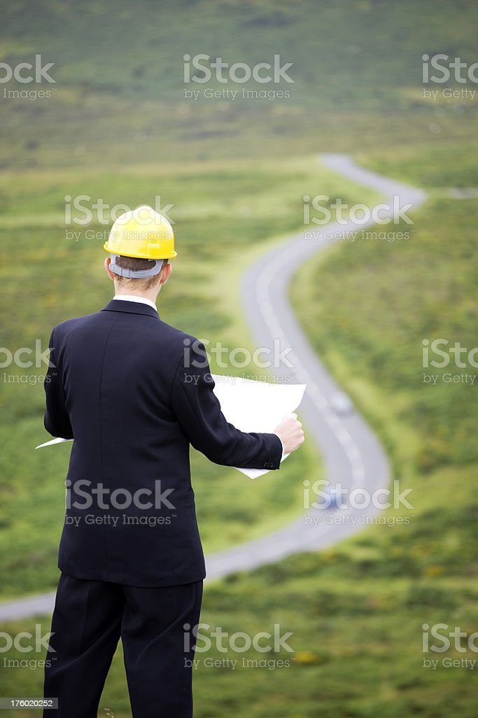 Road planning royalty-free stock photo