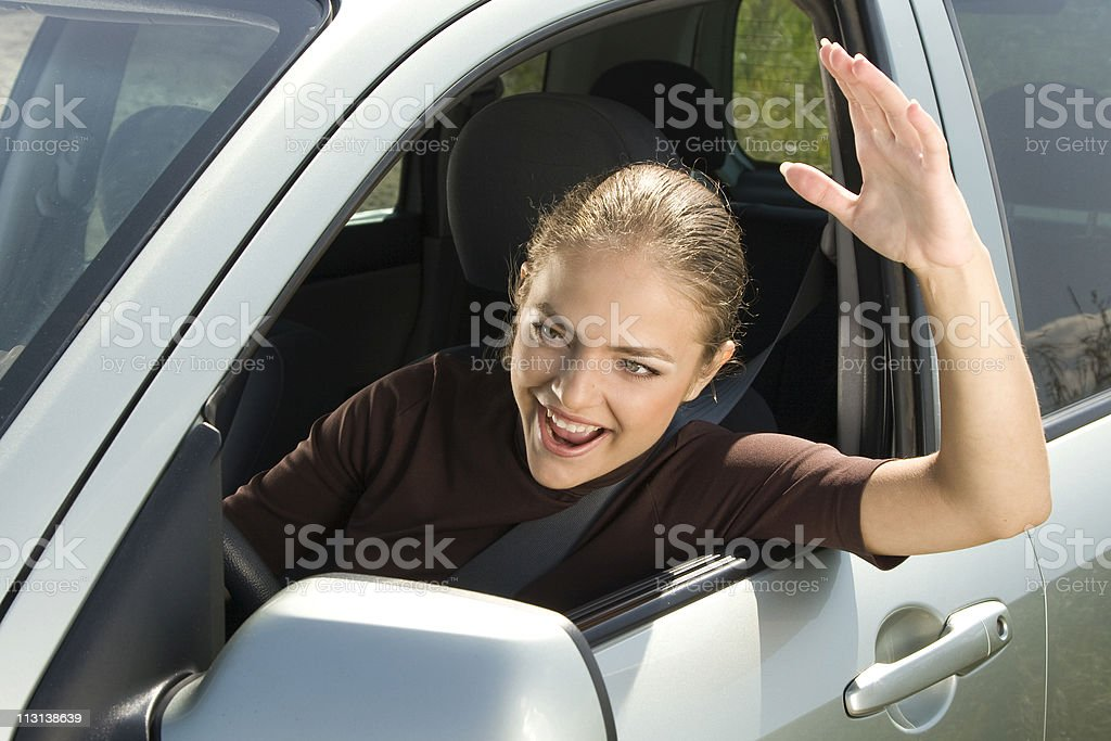 Road rage driver. royalty-free stock photo