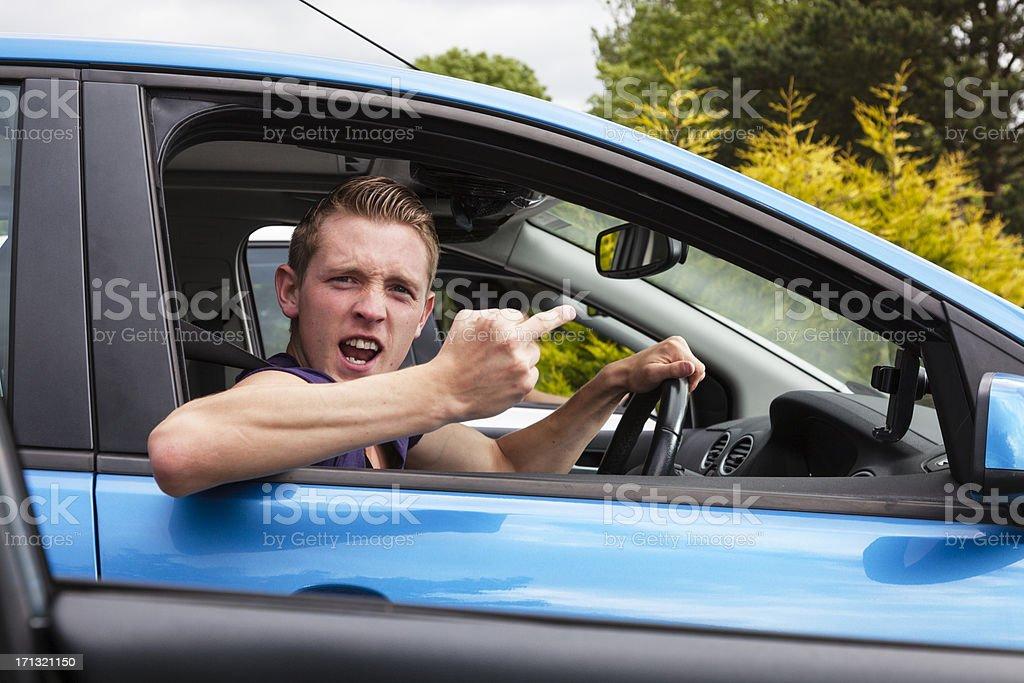 Road Rage royalty-free stock photo