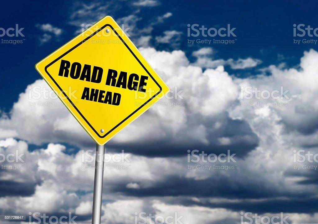 Road rage sign stock photo