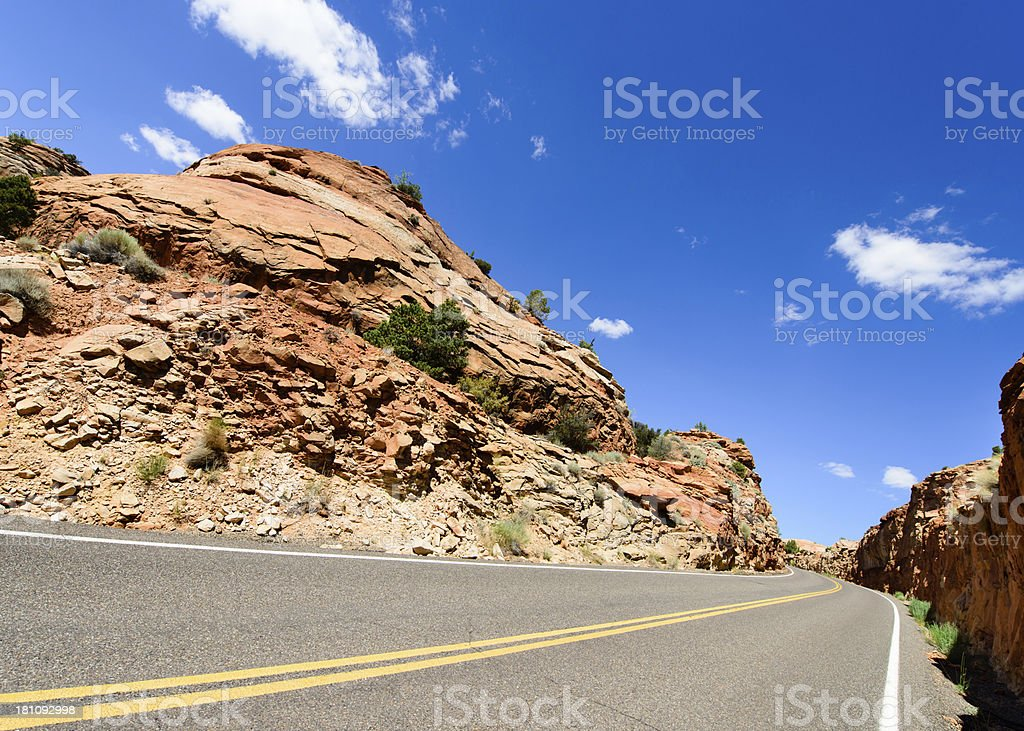 Road - Red Rock Montain, Horizontal royalty-free stock photo