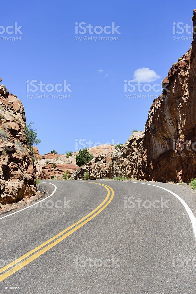 Road - Red Rock, Verticle royalty-free stock photo