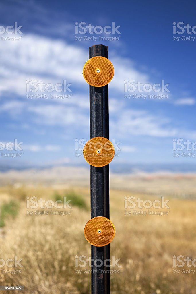 Road Reflector stock photo