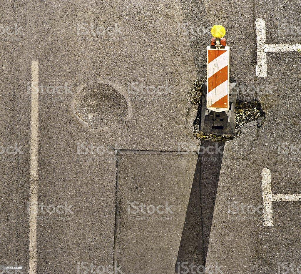 Road repair concept stock photo