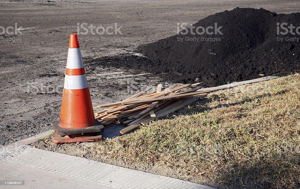 Road repair materials royalty-free stock photo