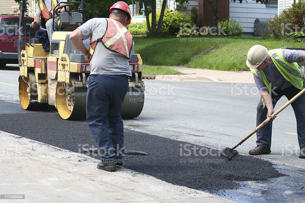Road Repair royalty-free stock photo