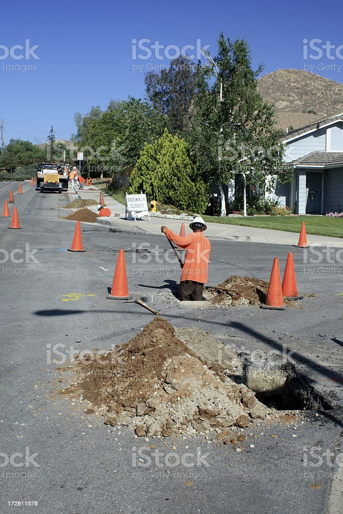 Road Repair stock photo