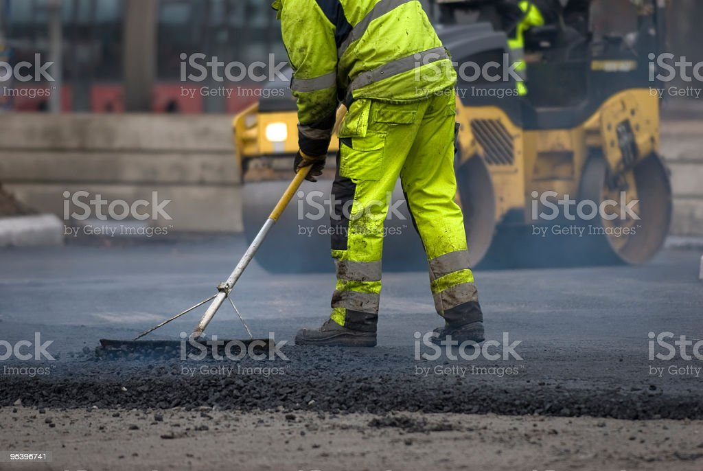 road repairs stock photo
