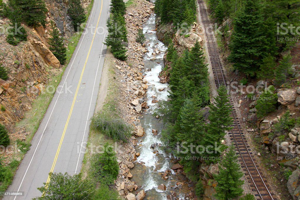 road river rail royalty-free stock photo