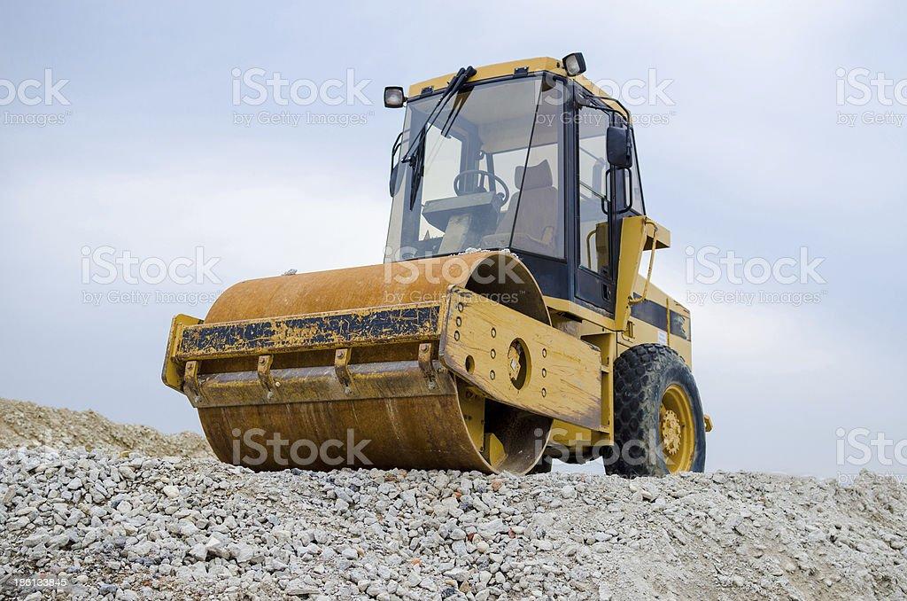 Photo of roller on gravel