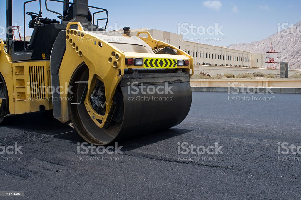 Road roller stock photo