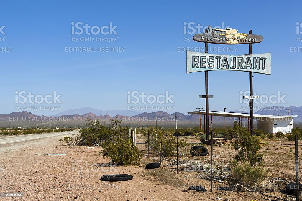 Road Runner's Retreat Restaurant royalty-free stock photo