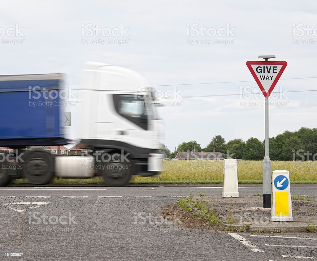 Road Safety - UK Give Way Sign royalty-free stock photo