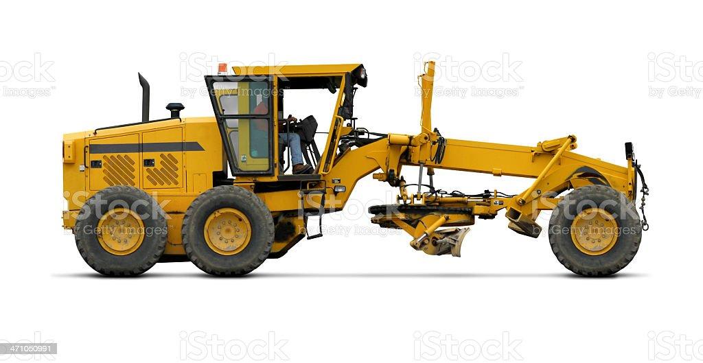 Road Scraper 'Grader' profile view stock photo