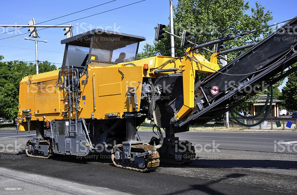 road scraper machine stock photo