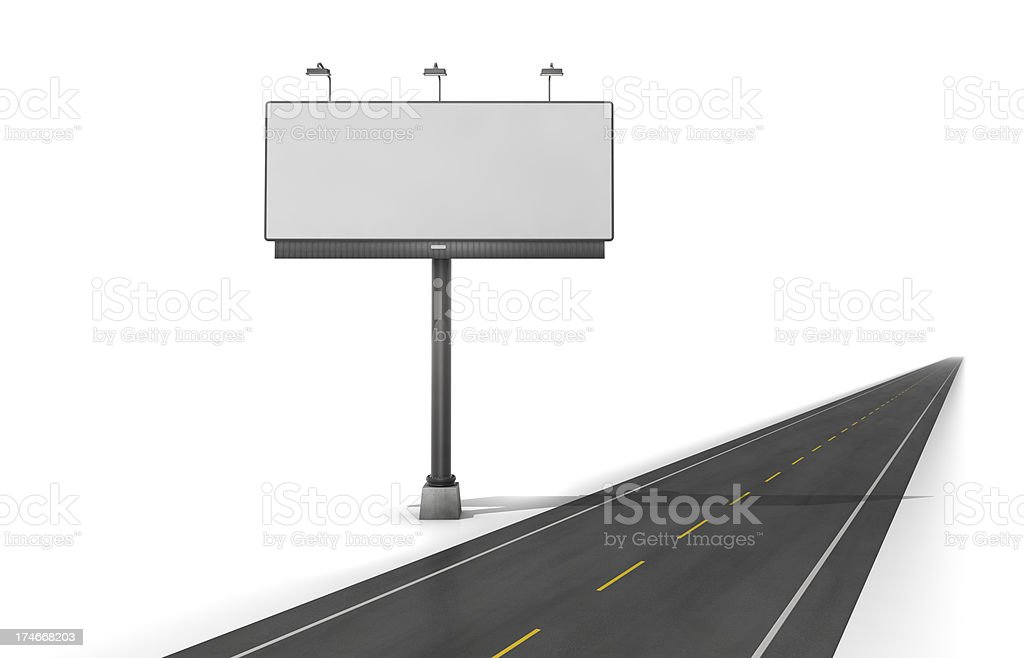 Road side billboard royalty-free stock photo