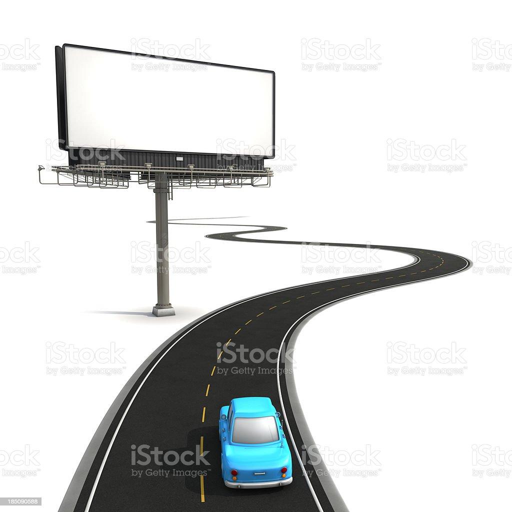 Road side billboard royalty-free stock photo