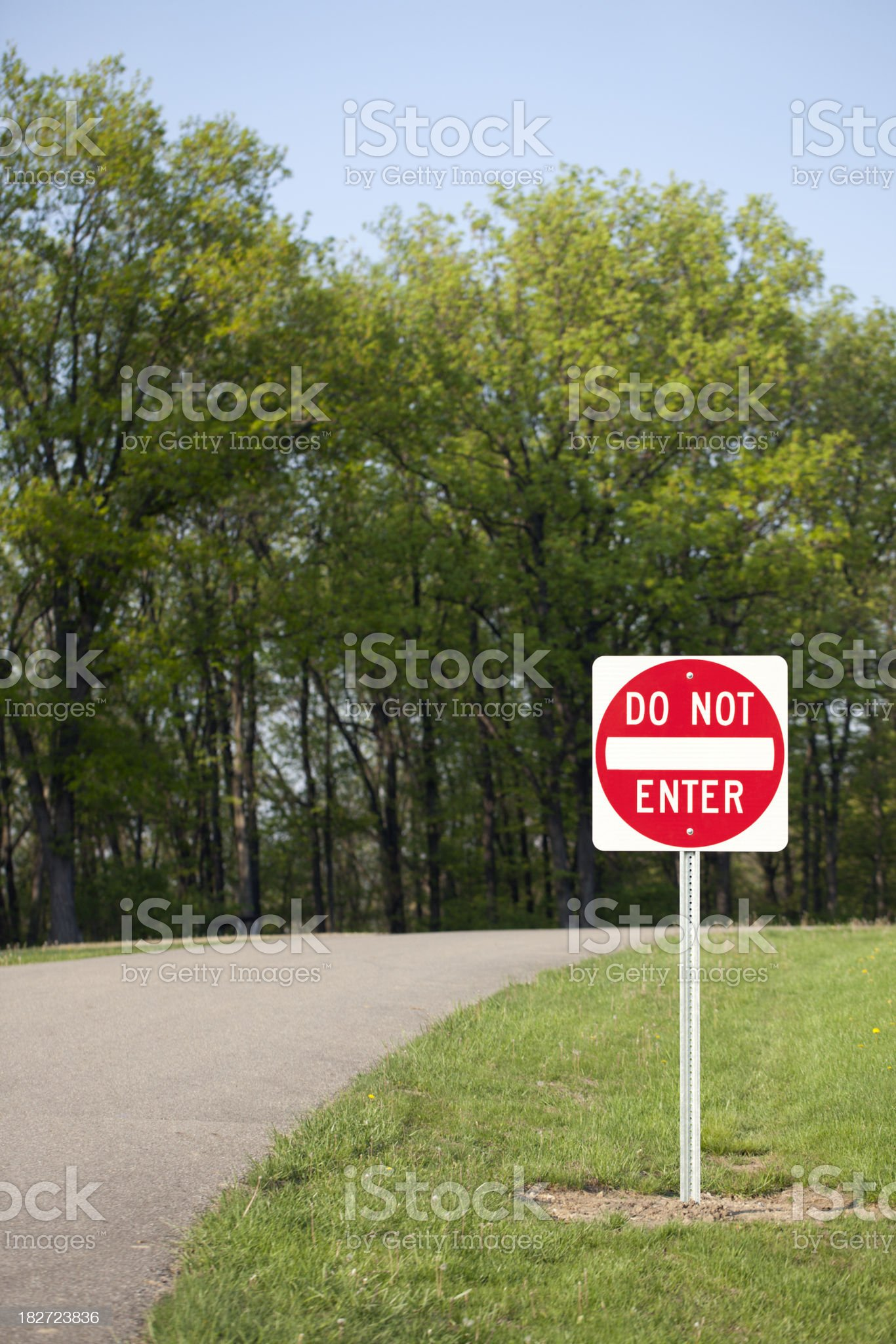 Road Side Do Not Enter Sign royalty-free stock photo