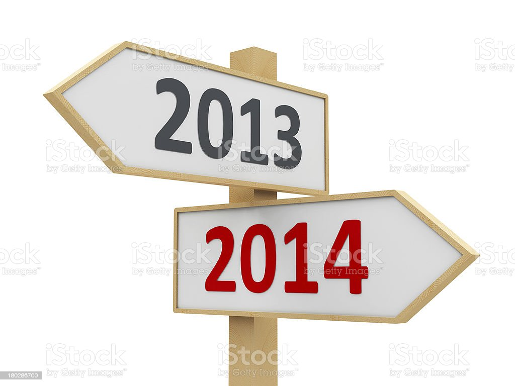 Road sign 2014 stock photo