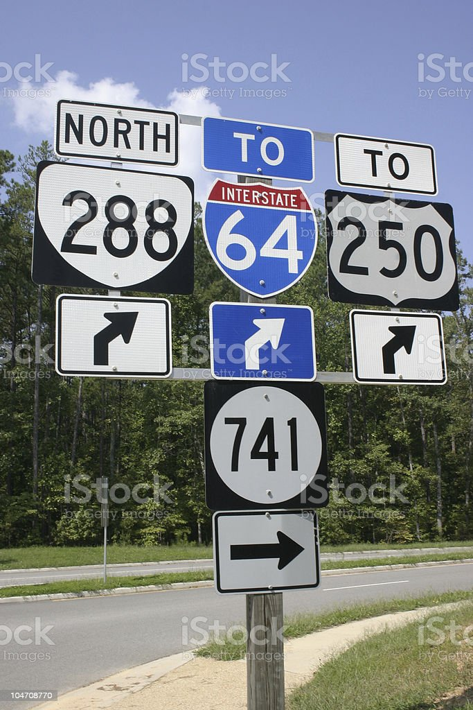 Road Sign Assembly royalty-free stock photo