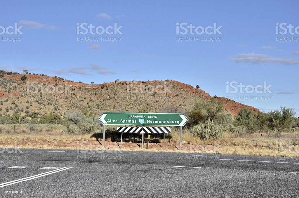 Road Sign at Crossroads royalty-free stock photo