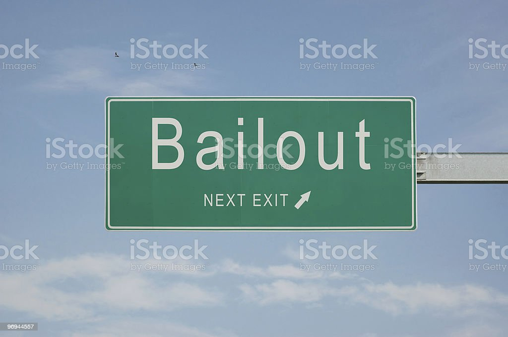 Road Sign - Bailout stock photo