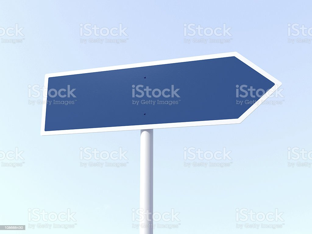 Road Sign Blank royalty-free stock photo