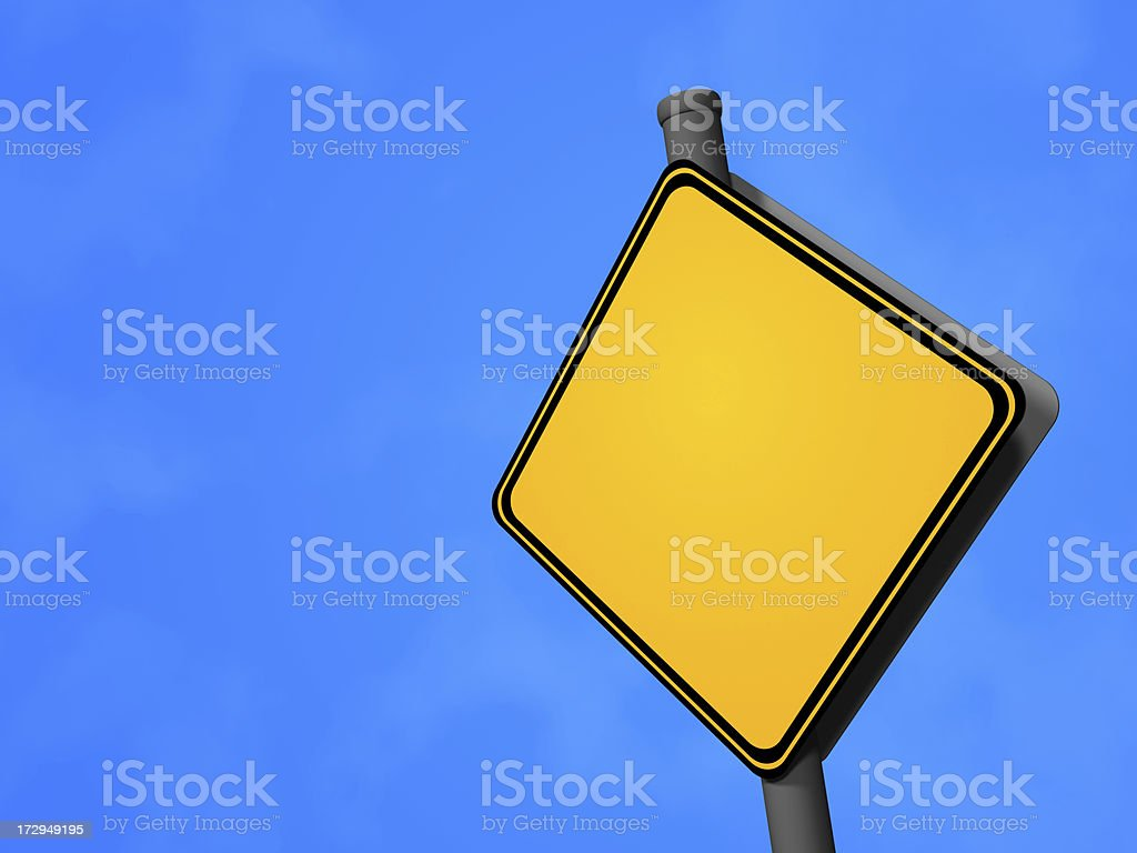 Road Sign - Blank royalty-free stock photo