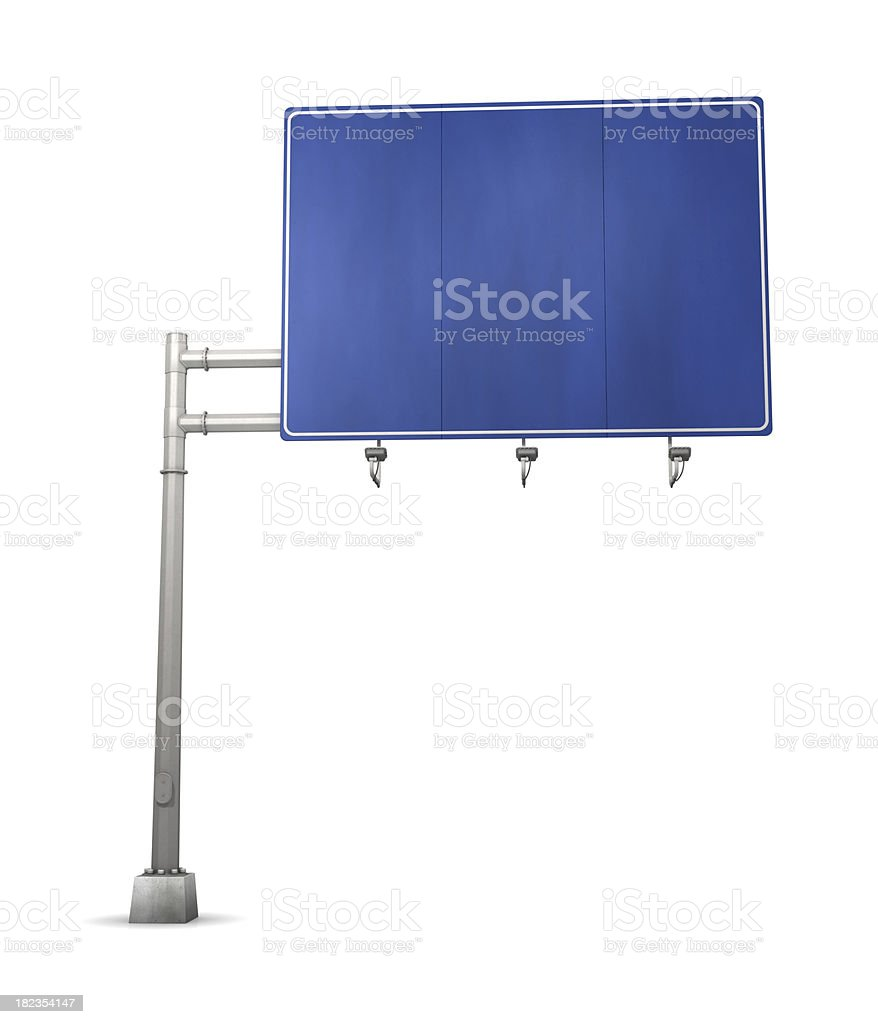 Road Sign Blue stock photo