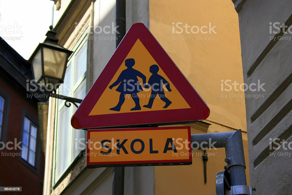 Road Sign Children Crossing royalty-free stock photo