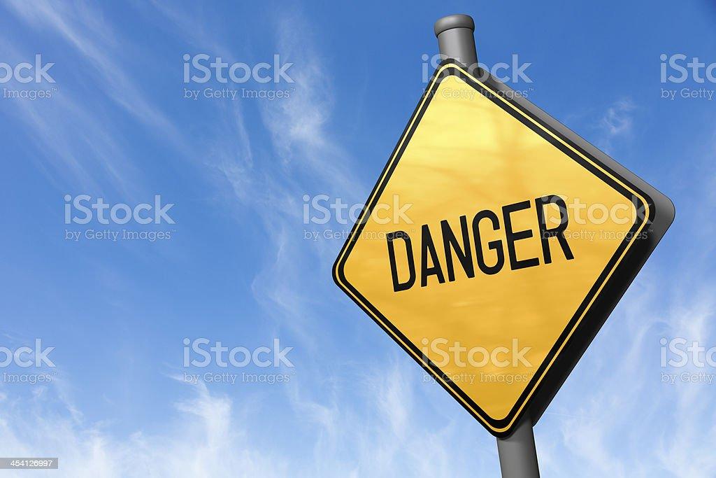 Road Sign - Danger stock photo