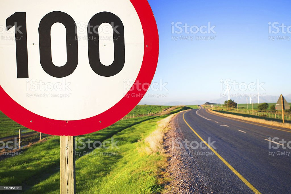 Road sign for speed limit royalty-free stock photo
