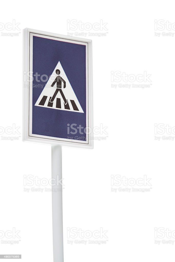 Road sign indicating the presence of a crossover royalty-free stock photo