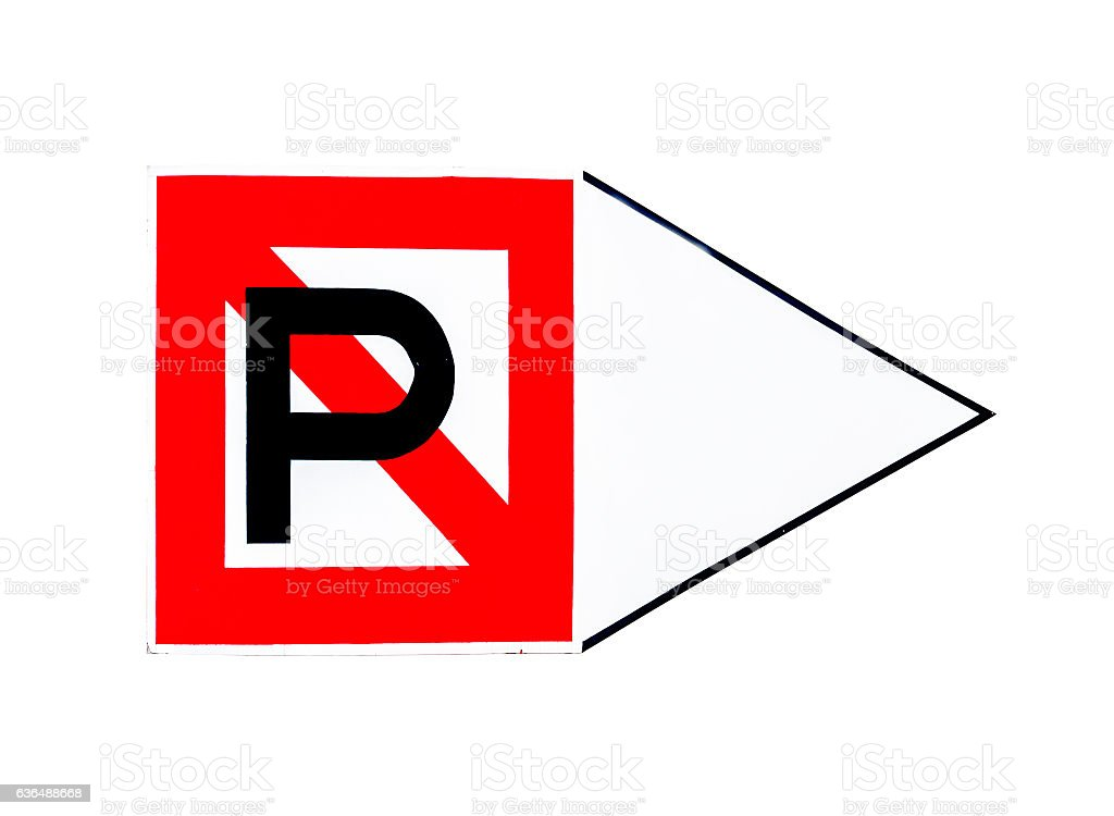 Road sign: No Parking Any Time - Tow Zone stock photo