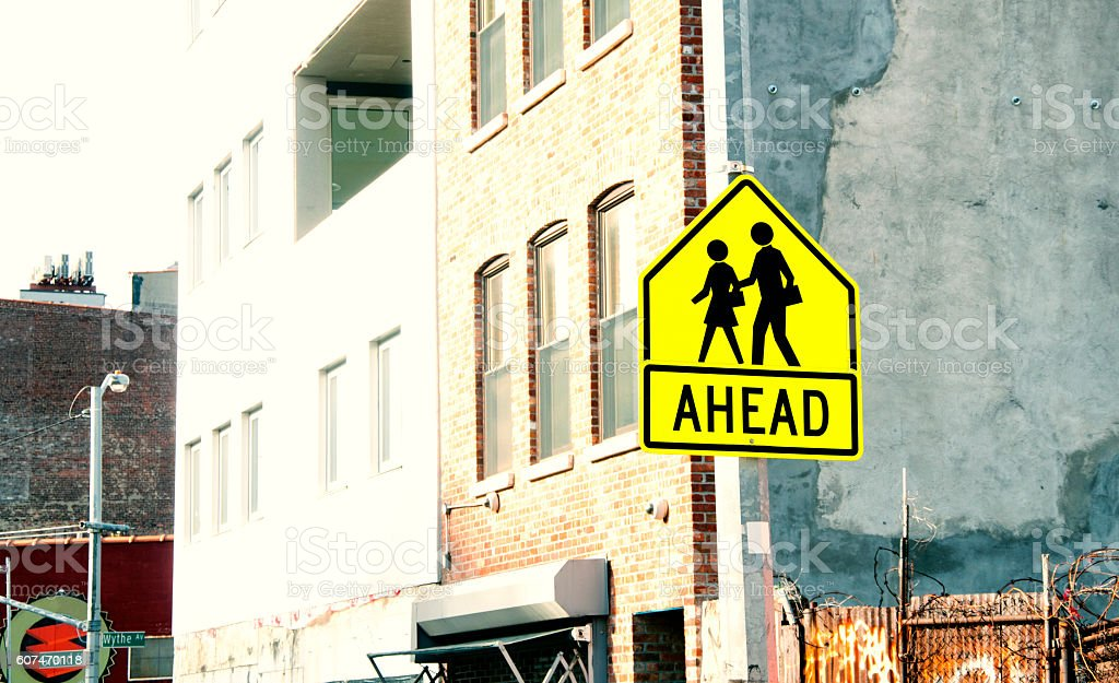 Road sign, NYC stock photo