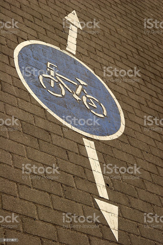 road sign on pavement royalty-free stock photo