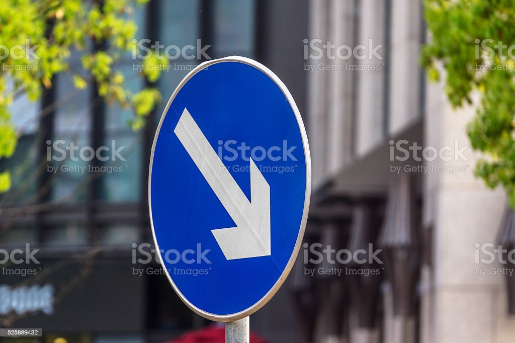 road sign on street stock photo
