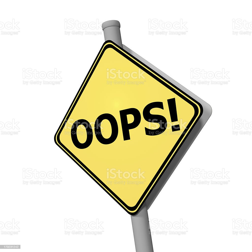 Road Sign - Oops! royalty-free stock photo